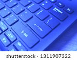 enter button on laptop keyboard.... | Shutterstock . vector #1311907322