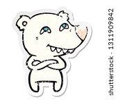 distressed sticker of a cartoon ... | Shutterstock .eps vector #1311909842