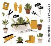 garden tool set. vector... | Shutterstock .eps vector #1311912215