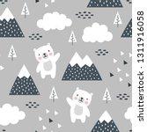 Teddy Bear Seamless Pattern...