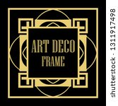 art deco vintage ornamental...   Shutterstock .eps vector #1311917498