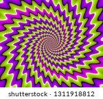 Green And Purple Spirals....