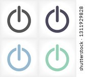 on off  vector icon    Shutterstock .eps vector #1311929828