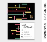 colorful business card design. ... | Shutterstock .eps vector #1311932708