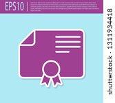 retro purple certificate...   Shutterstock .eps vector #1311934418