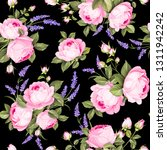 the rose seamless pattern. red... | Shutterstock .eps vector #1311942242