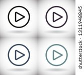 play vector icon | Shutterstock .eps vector #1311948845
