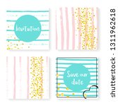 wedding stripes with glitter... | Shutterstock .eps vector #1311962618