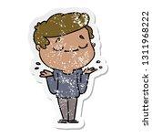 distressed sticker of a cartoon ... | Shutterstock .eps vector #1311968222