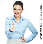 beautiful smiling business... | Shutterstock . vector #131197802