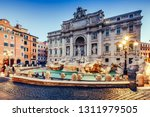 trevi fountain in rome  italy.... | Shutterstock . vector #1311979505