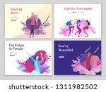 web page design template for... | Shutterstock .eps vector #1311982502
