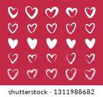 cute heart set. vector | Shutterstock .eps vector #1311988682