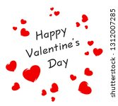 happy valentines day card with... | Shutterstock .eps vector #1312007285