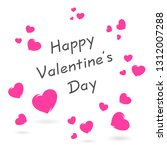 happy valentines day card with... | Shutterstock .eps vector #1312007288