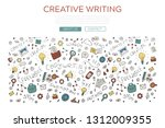 doodle outline illustration of... | Shutterstock .eps vector #1312009355
