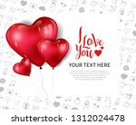 i love you concept design with... | Shutterstock .eps vector #1312024478