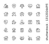 safety icons set. editable... | Shutterstock .eps vector #1312026695
