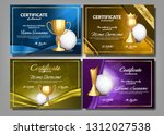 volleyball game certificate... | Shutterstock .eps vector #1312027538
