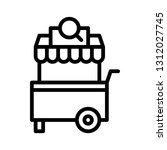 candy cart vector illustration  ... | Shutterstock .eps vector #1312027745