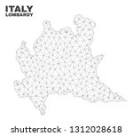 abstract lombardy region map... | Shutterstock .eps vector #1312028618