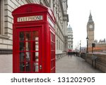 traditional red telephone box...
