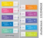 10 steps timeline infographic...   Shutterstock .eps vector #1312040618