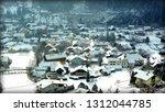 houses in winter   Shutterstock . vector #1312044785
