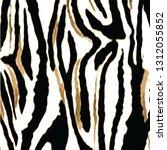 animal skin leopard pattern in... | Shutterstock .eps vector #1312055852