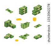 various money bills dollar cash ... | Shutterstock .eps vector #1312062278
