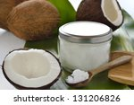 coconuts and organic coconut... | Shutterstock . vector #131206826