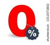 0    zero percents commission... | Shutterstock .eps vector #1312072802