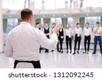 briefing at the restaurant. the ... | Shutterstock . vector #1312092245