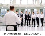 briefing at the restaurant. the ... | Shutterstock . vector #1312092248