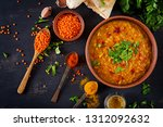 indian dal. food. traditional... | Shutterstock . vector #1312092632