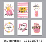 collection of the valentine's... | Shutterstock .eps vector #1312107548