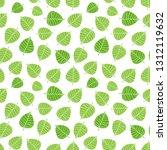 bodhi leaves pattern. buddhism...   Shutterstock .eps vector #1312119632