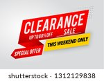 clearance sale banner template... | Shutterstock .eps vector #1312129838