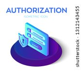 authorization login with... | Shutterstock .eps vector #1312143455