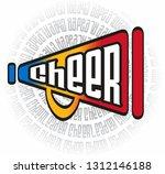 cheerleader megaphone retro... | Shutterstock .eps vector #1312146188