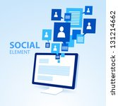 social icon group element... | Shutterstock .eps vector #131214662