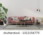 stylish living room interior in ... | Shutterstock . vector #1312156775