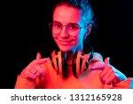 fashion pretty woman with...   Shutterstock . vector #1312165928