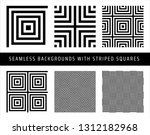 set of seamless patterns with... | Shutterstock .eps vector #1312182968