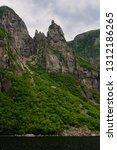 girls head on rock spire at... | Shutterstock . vector #1312186265