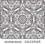 raster black seamless retro... | Shutterstock . vector #131219105