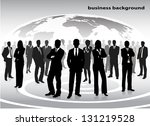 Silhouettes Of Businessmen...
