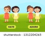 vector antonyms and opposites....   Shutterstock .eps vector #1312204265