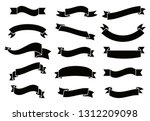 banners and ribbons set... | Shutterstock .eps vector #1312209098