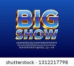 vector chic banner big show... | Shutterstock .eps vector #1312217798